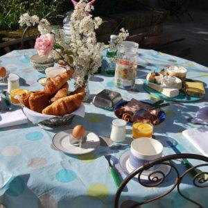 Petit déjeuner les Volets Bleus Provence