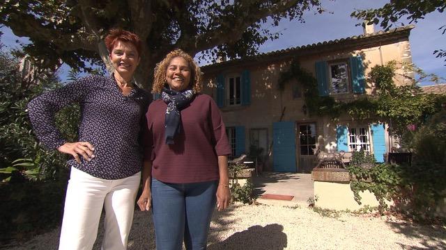 Aline et Frédérique dans l'émission Bienvenue chez Nous sur TF1